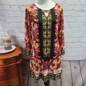 style&co. multi color floral print long sleeve